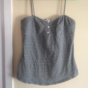 Retro indie rockabilly gingham tanktop